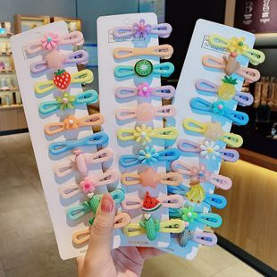 Korean cute children's hairpin baby duckbill clip hair fruit candy color hairpin wholesale nihaojewelry NHNA231011's discount tags