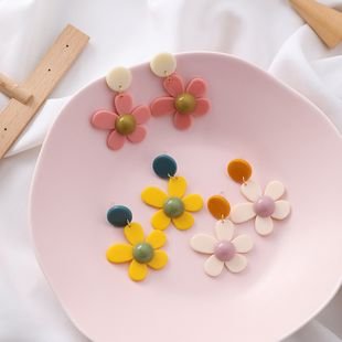 girl fashion flower earrings literary petals Harajuku daisy earrings candy color earrings wholesale nihaojewelry NHMS231049's discount tags