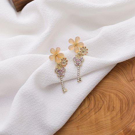 Small daisy flower earrings butterfly earrings new wave 925 silver needle key earrings wholesale nihaojewelry NHMS231050's discount tags