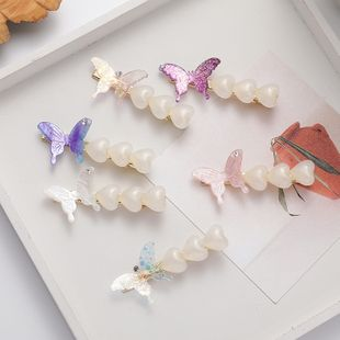 Girl butterfly love hair clip hairpin side clip sweet hair accessories wholesale nihaojewelry NHMS231057's discount tags