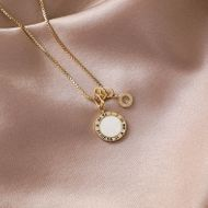 fashion simple Circle letter  simple necklace wholesale nihaojewelry NHMS231064