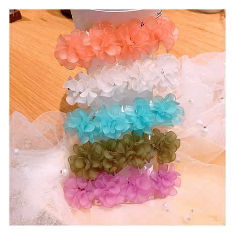 Korean retro style resin handmade flowers  hair clip  wholesale nihaojewelry NHHD231075's discount tags