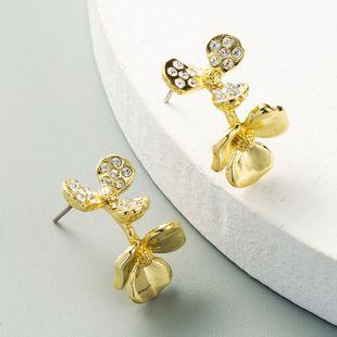 Nuevos pendientes en forma de C pendientes de flores celebridad calle disparos moda pendiente al por mayor nihaojewelry NHLN231137's discount tags
