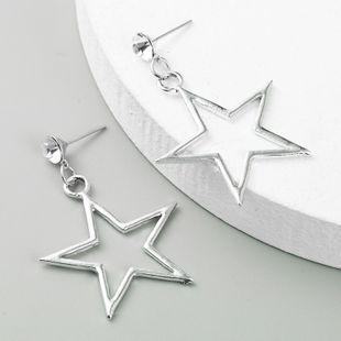 pendientes de estrella pendientes largos de aleación pendientes de moda simples al por mayor nihaojewelry NHLN231139's discount tags