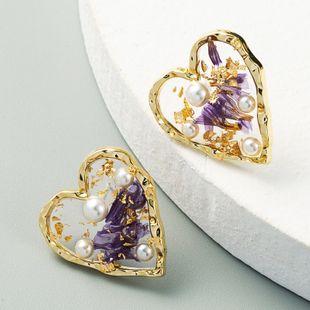 Coréen nouvelle mode en forme de coeur boucles d'oreilles perles s925 argent aiguille alliage boucles d'oreilles en gros nihaojewelry NHLN231143's discount tags