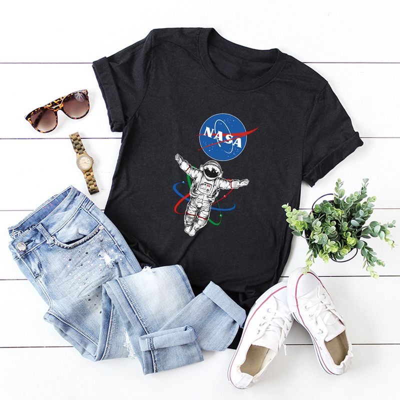 summer fashion new cool pattern trendy wild loose  black Tshirt wholesale NHSN231148