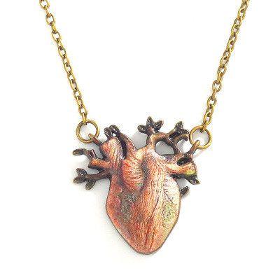 Rétro collier de racine d'arbre en bronze pendentif arbre en trois dimensions collier personnalité coeur collier femmes NHMO235897's discount tags
