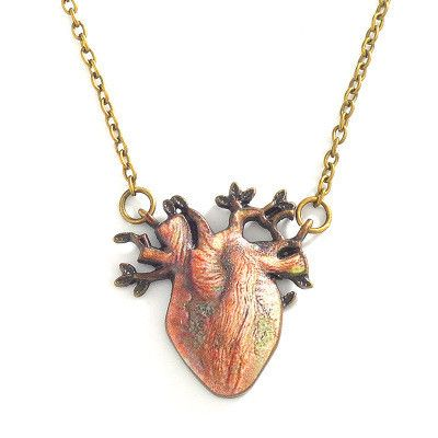 Retro tree root necklace bronze three-dimensional tree pendant necklace personality heart necklace women NHMO235897