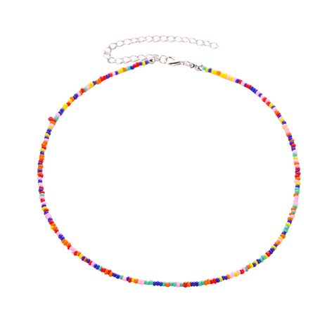 Bohemian style  short necklace women ethnic style beaded necklace colorful millet bead necklace  NHMO235913's discount tags
