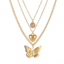 Exaggerate love hollow butterfly necklace personality long multilayer necklace sweater chain women NHMO235928