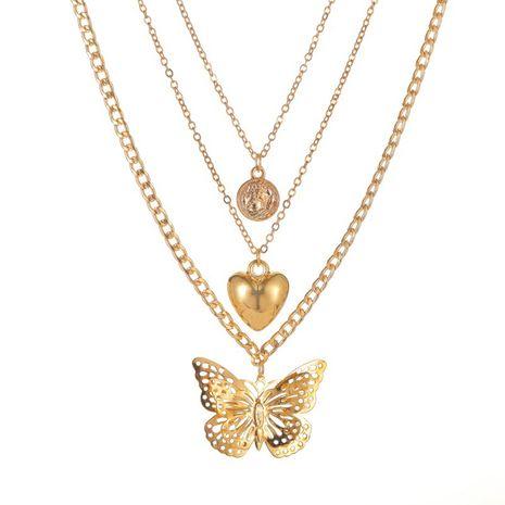Exagérer amour creux papillon collier personnalité long collier multicouche pull chaîne femmes NHMO235928's discount tags