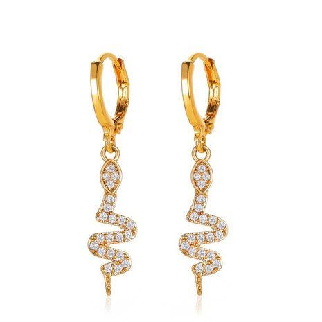 new creative fashion full diamond snake earrings long diamond snake earrings wholesale nihaojewelry NHMO235940's discount tags