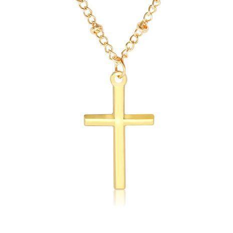 Croix Jésus galvanoplastie couleur vive positionnement perle chaîne collier couple collier chaîne de la clavicule NHMO235947's discount tags