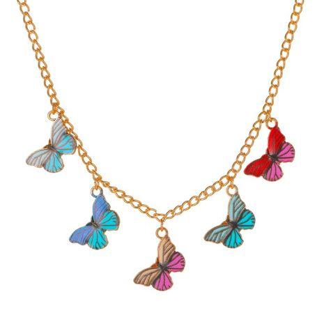 Collier de papillon de rêve de couleur de chaîne de clavicule rétro de mode femme NHMO235950's discount tags