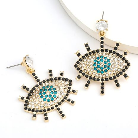 hot sale alloy diamond rhinestone retro earrings wholesale nihaojewelry NHJE235989's discount tags