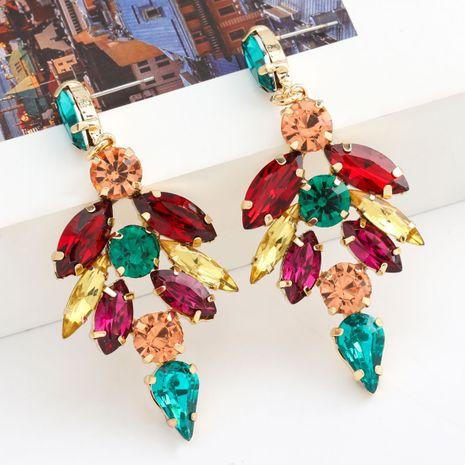 Moda Color Diamond Series Multicapa Aleación Rhinestone Flor Pendientes Bohemia al por mayor nihaojewelry NHJE236000's discount tags