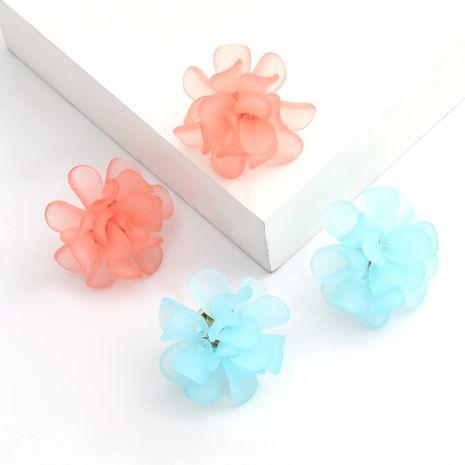 Korea Sen series S925 silver needle resin flower earrings sweet art earrings wholesale nihaojewelry NHJE236001's discount tags