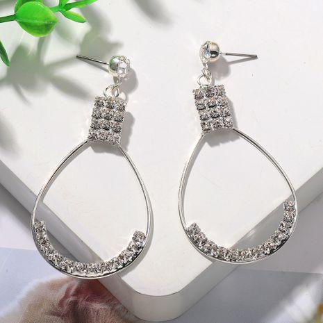 Nuevos pendientes de metal en forma de gota de lluvia de diamantes coreanos simples joyería de moda callejera al por mayor nihaojewelry NHJQ236024's discount tags