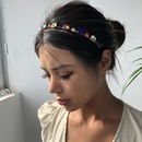hot sale alloy inlaid rhinestone women fineedge diamond headband wholesale nihaojewelry NHMD236031