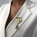 hot sale accessories fashion style love brooch retro bohemian pearl heartshaped jewelry wholesale nihaojewelry NHMD236034