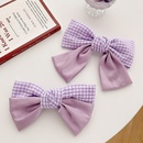 Purple large bow hairpin back head clip sweet girl top clip spring clip headdress wholesale nihaojewelry NHOF236108