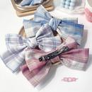 uniform large intestine hair scrunchies big bow hairpin navy style hair accessory set wholesale nihaojewelry NHOF236109
