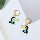 Korean cute woodpecker rice bead earrings trendy handwoven earrings jewelry wholesale nihaojewelry NHLA236130