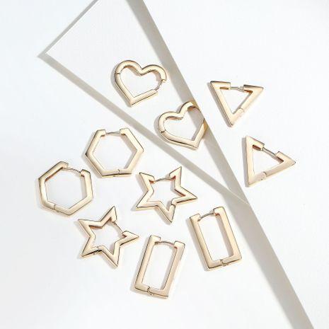 fashion women's geometric earrings simple hoop earrings wholesale nihaojewelry NHLL236138's discount tags