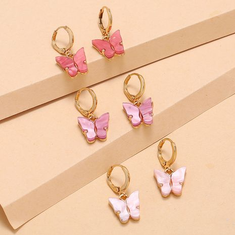 Hot sale Set Earrings Fashion Simple Retro Shell Butterfly 3-Piece Earrings wholesale nihaojewelry NHKQ236143's discount tags
