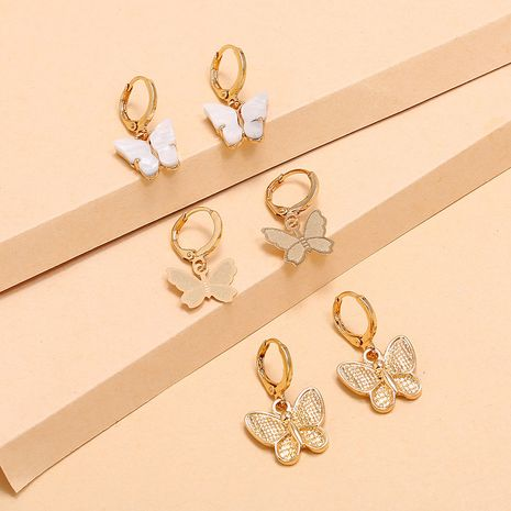 fashion new alloy set earrings simple retro trend forest butterfly 3-piece earrings wholesale nihaojewelry NHKQ236145's discount tags