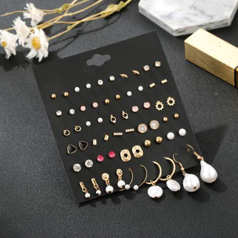 Nouvelle vente chaude Retro Gold 30 paires de boucles d'oreilles combinées mis en gros nihaojewelry NHSD236171's discount tags