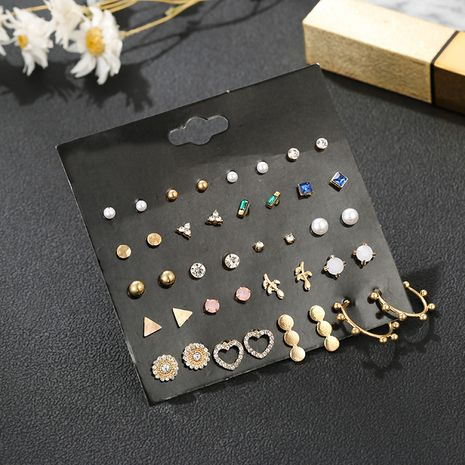 New retro style earrings simple fashion earrings 20 pairs set combination wholesale nihaojewelry NHSD236172's discount tags