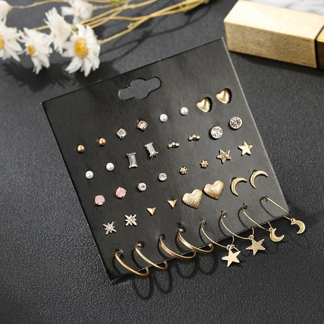 20 pairs card combination set earrings small and cute earrings ear jewelry wholesale nihaojewelry NHSD236174's discount tags