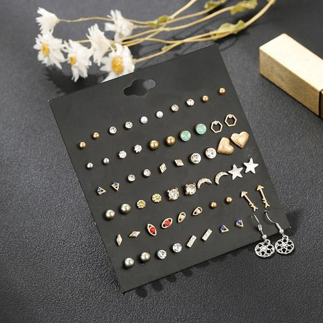 New hot sale earring set geometric shape 30 pairs of earrings wholesale nihaojewelry NHSD236175's discount tags