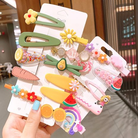 Korean hairpin color word clip side clip small clip headdress hairpin wholesale nihaojewelry NHSA236180's discount tags