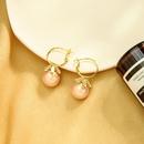 korean Creative design geometric earrings fashion s925 silver needle earrings zircon pearl earrings wholesale nihaojewelry NHQD236186