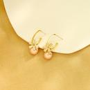 Korean fashion s925 silver needle stud earrings highend geometric circle earrings zircon pearl earrings wholesale nihaojewelry NHQD236188