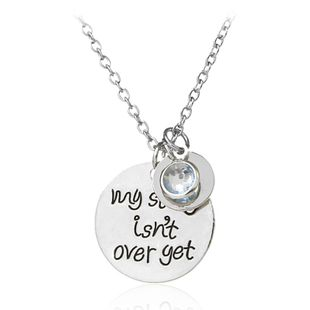 Fashion geometric Round Tag Necklace English letters Necklace NHCU236202's discount tags