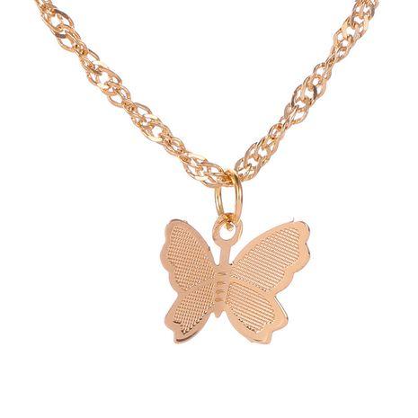 Chaîne de clavicule élégante papillon simple femmes collier sauvage chaîne de clavicule NHCU236206's discount tags