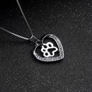 Fashion love peach heart necklace women creative love dog claw hollow diamond pendant necklace accessories NHCU236212