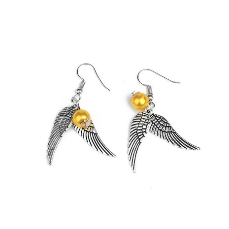 popular retro fashion Gryffindor Harry Potter golden snitch earrings wholesale nihaojewelry NHCU236216's discount tags