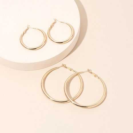 new trendy ear hoop earrings feminine ring exaggerated large hoop earrings wholesale nihaojewelry NHRN236219's discount tags