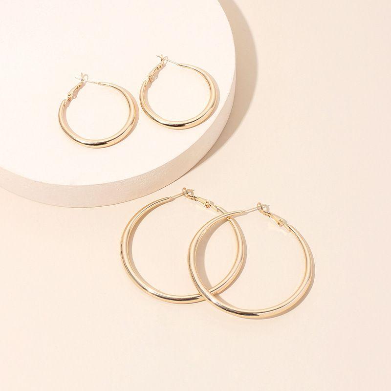 new trendy ear hoop earrings feminine ring exaggerated large hoop earrings wholesale nihaojewelry NHRN236219