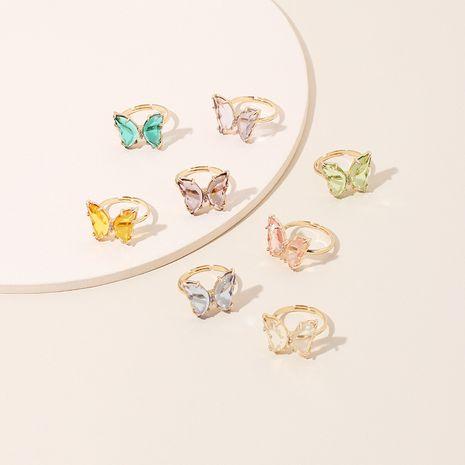 couleur papillon acrylique bague transparente fille à la mode bague de mode simple en gros nihaojewelry NHRN236231's discount tags
