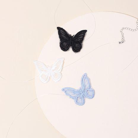 Ligne de poisson transparente collier papillon simple dentelle fée clavicule collier mode femmes collier chocker NHRN236237's discount tags