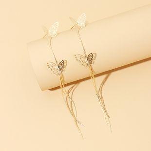 new hollow simple long tassel butterfly earrings exaggerated earrings wholesale nihaojewelry NHRN236247's discount tags
