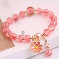 Moda coreana simple pequeña margarita colgante cristal perlas pulsera al por mayor nihaojewelry NHSC236259