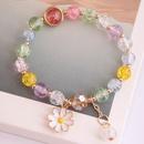 Korean fashion simple small daisy pendant crystal beads  bracelet wholesale nihaojewelry NHSC236259