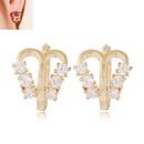 Korean Fashion Sweet OL Flash Diamond Butterfly Shape Earrings wholesale nihaojewelry NHSC236255