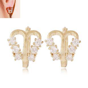 Korean Fashion Sweet OL Flash Diamond Butterfly Shape Earrings wholesale nihaojewelry NHSC236255's discount tags